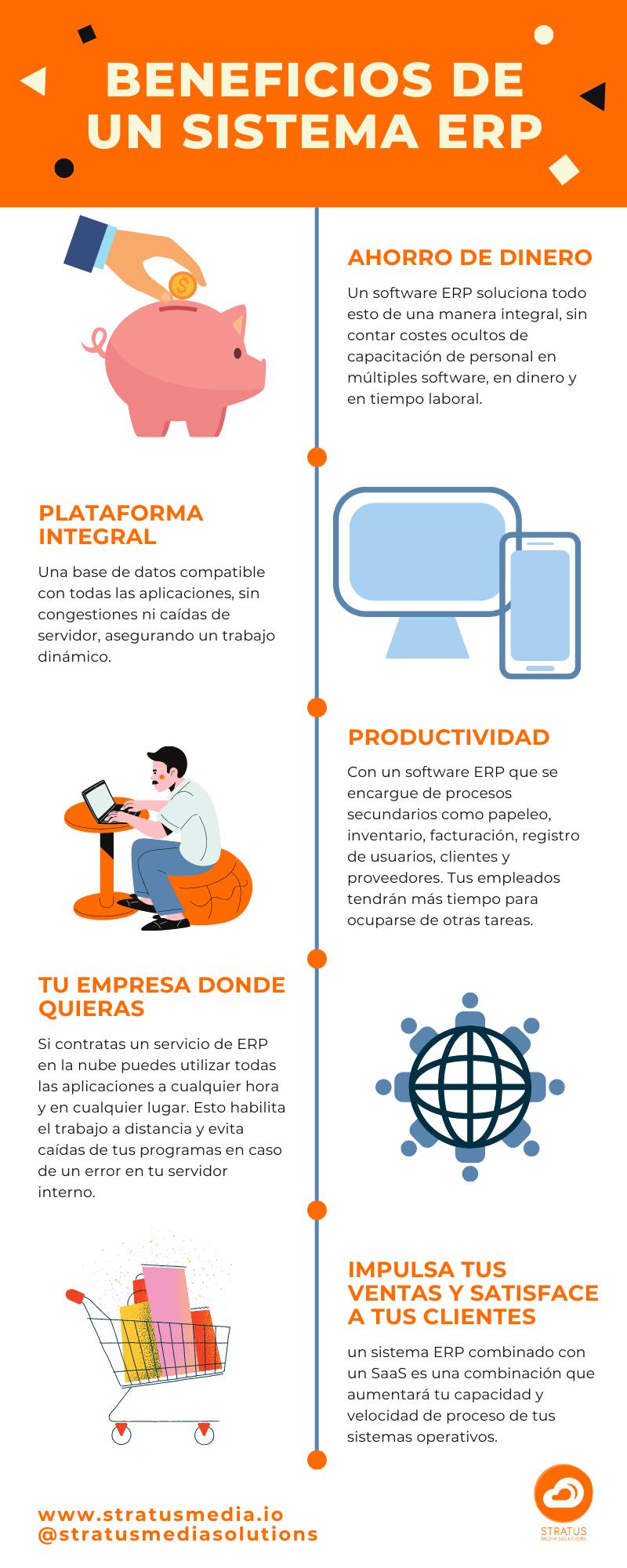 Características de un ERP software