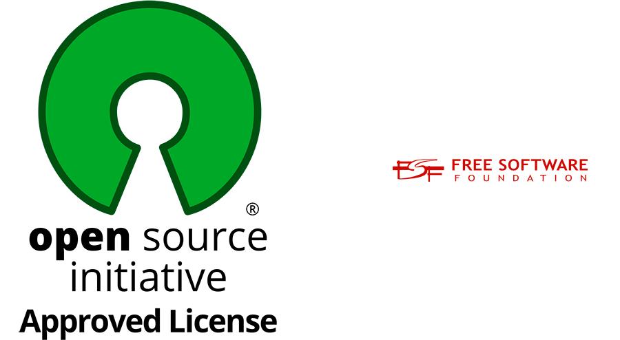 Logos de Open Source Iniciative y Free Software Foundation