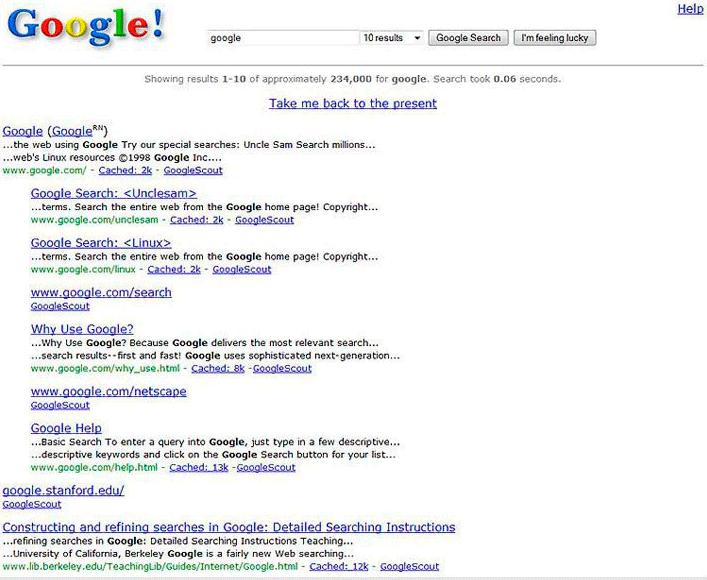 Página SERP de Google